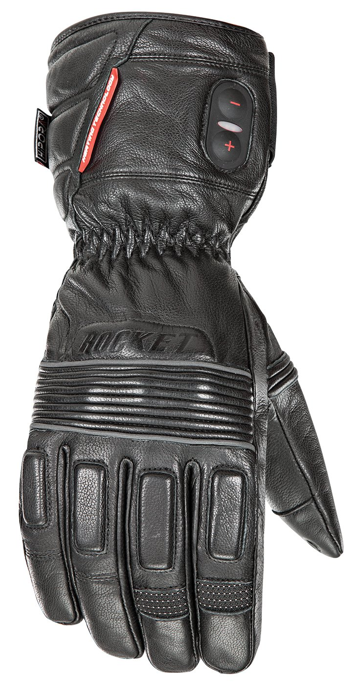 Joe Rocket Mens Rocket Leather Burner Heated Gloves (Black, XX-Large)