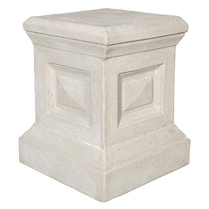 Attirant Design Toscano Neoclassical Grand Garden English Plinth Pedestal Stand
