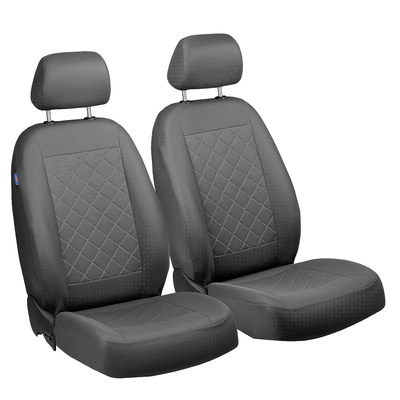 /Couleur Gris Premium gepresstes Motif /à carreaux /pour conducteur et passager/ C15/Housses de Si/ège Avant/