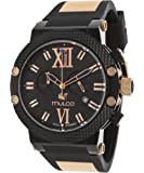 Mulco Nuit Black Dial Black Rubber Unisex Watch MW311010024