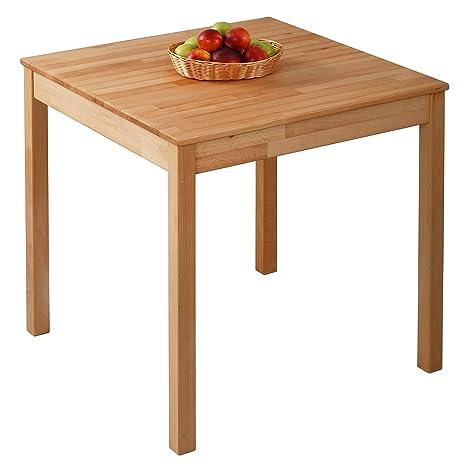 Tavolo da pranzo in legno di faggio 100% FSC Tomas (75 x 75 x 75 cm ...