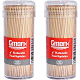 "Gmark Premium 4"" Kokeshi Toothpicks Skewers 500ct (2 Packs of 250) GM1034"