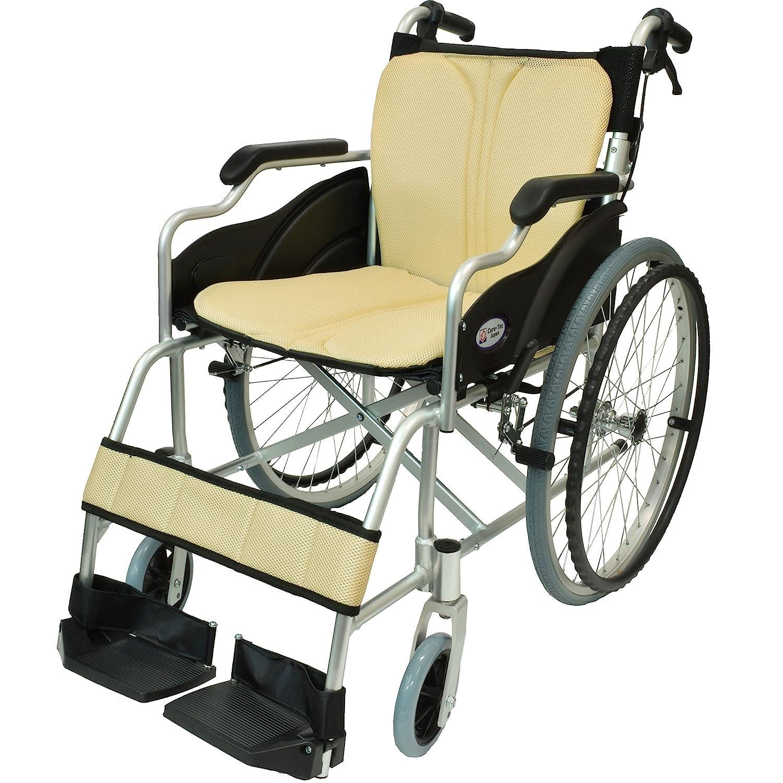 ケアテックジャパン 自走式 アルミ製 折りたたみ 車椅子 ハピネス アイボリー CA-10SU B00S0OANP0 08 アイボリー(象牙色) 08 アイボリー(象牙色)