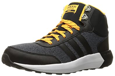 wholesale dealer bf3e3 2f88f adidas Men s Cloudfoam Race WTR mid Running Shoe, Black Solar Gold, 9 D
