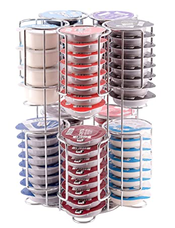 Tassimo Pod Holder Stores 80 Pods including Larger Milk Pods Rotating Base Unbeatable Quality Guaranteed Babavoom
