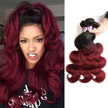 Amazon Com Racily Hair Ombre Brazilian Hair Body Wave 3 Bundles