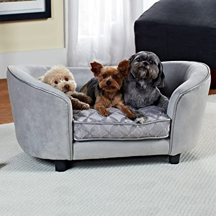 Amazon Com Enchanted Home Pet Quicksilver Pet Sofa Bed 34 By 3 By