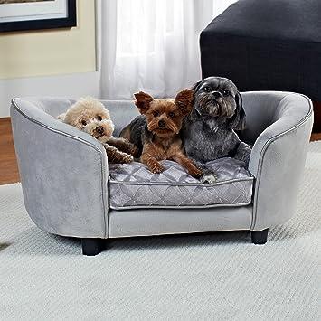 amazon com enchanted home pet quicksilver pet sofa bed 34 by 3 by rh amazon com pet sofa bed gray pet sofa bed grey