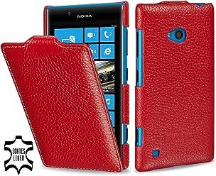 Esclusiva custodia UltraSlim Stilgut in vera pelle per Nokia Lumia 720 - rosso