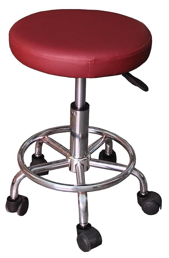 Taburete AX burdeos a ruedas mesa silla masaje mesa Kine Siege ...