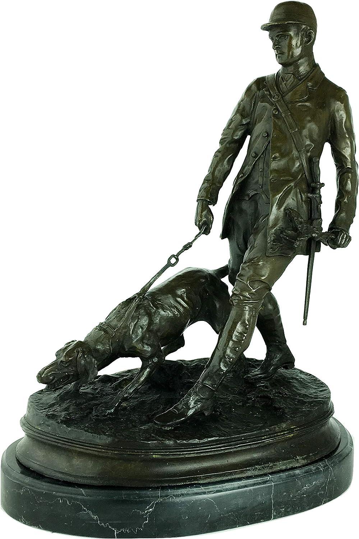 Wayborn Huntsman and his Dog Bronze Statue