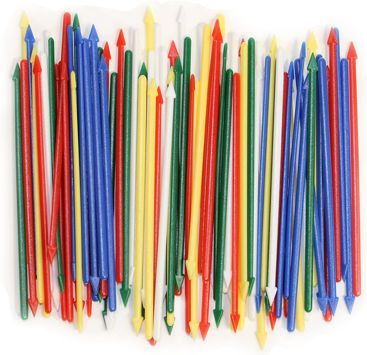"""Pack of 200 Colorful Cocktail Spears, Plastic, Assorted Colors, 3.25"""" Long"""