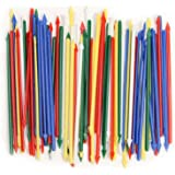 "Pack of 200 Colorful Cocktail Spears, Plastic, Assorted Colors, 3.25"" Long"