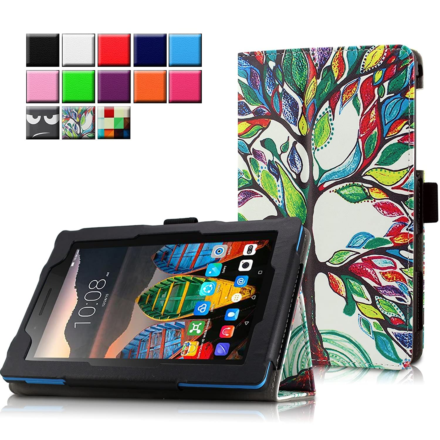 the best attitude 77db5 21c3d Lenovo TAB3 7 Essential / Lenovo Tab3 A7-10 Case Cover, Infiland Folio PU  Leather Slim Stand Case Cover for Lenovo TAB 3 7 Essential (Lenovo  TB3-710F) ...