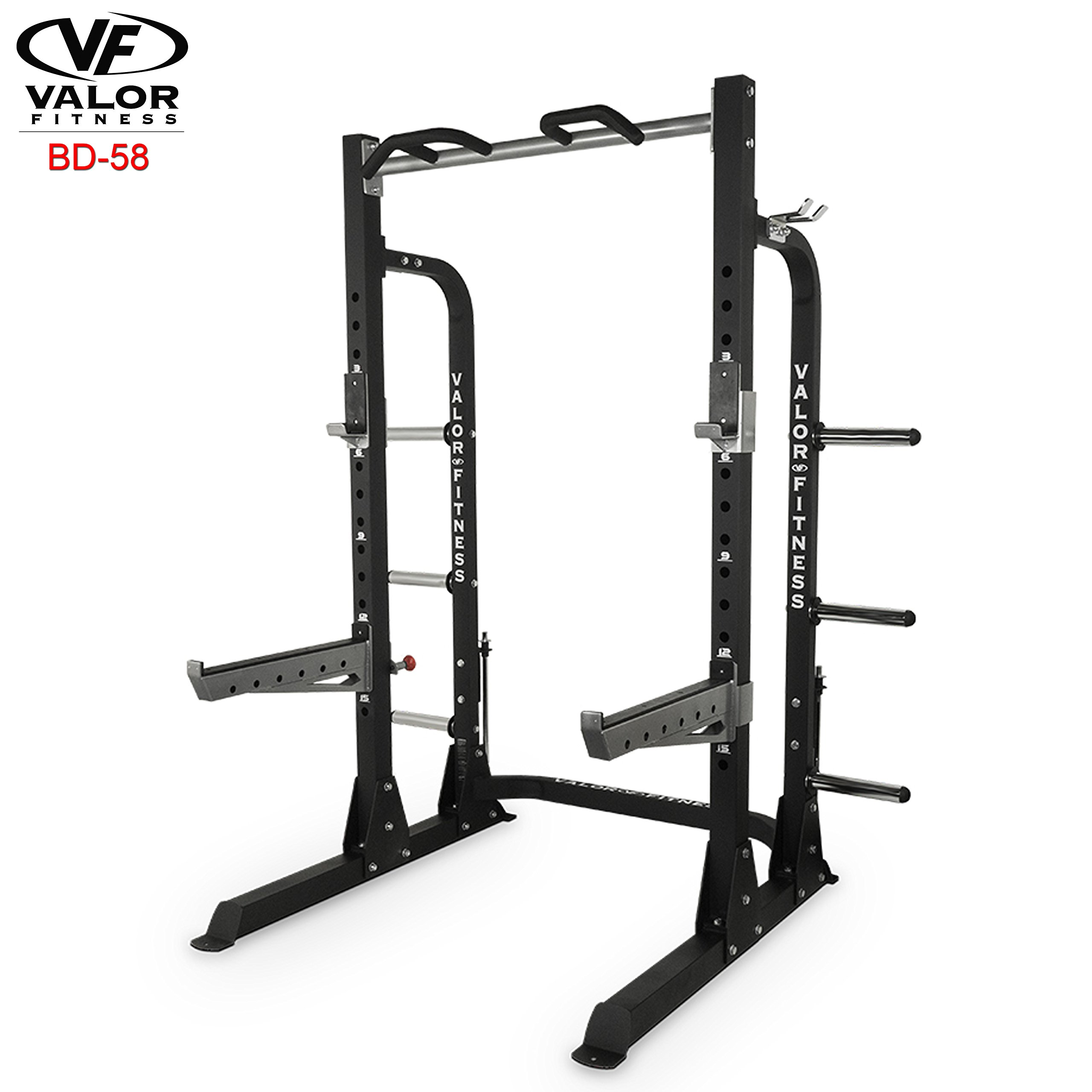 ValorPRO BD-58 Half Rack with Plate Storage by Valor Fitness