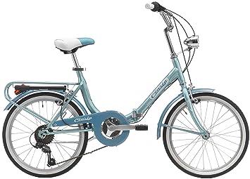 """Cicli Cinzia - Bicicleta plegable Bologna Hi-Tension 20"""", azul claro"""