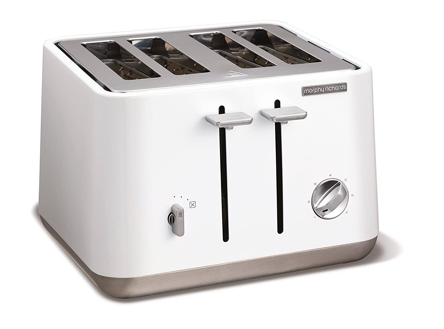 morphy richards  aspect stainless steel four slice toaster  - morphy richards  aspect stainless steel four slice toaster  whiteamazoncouk kitchen  home