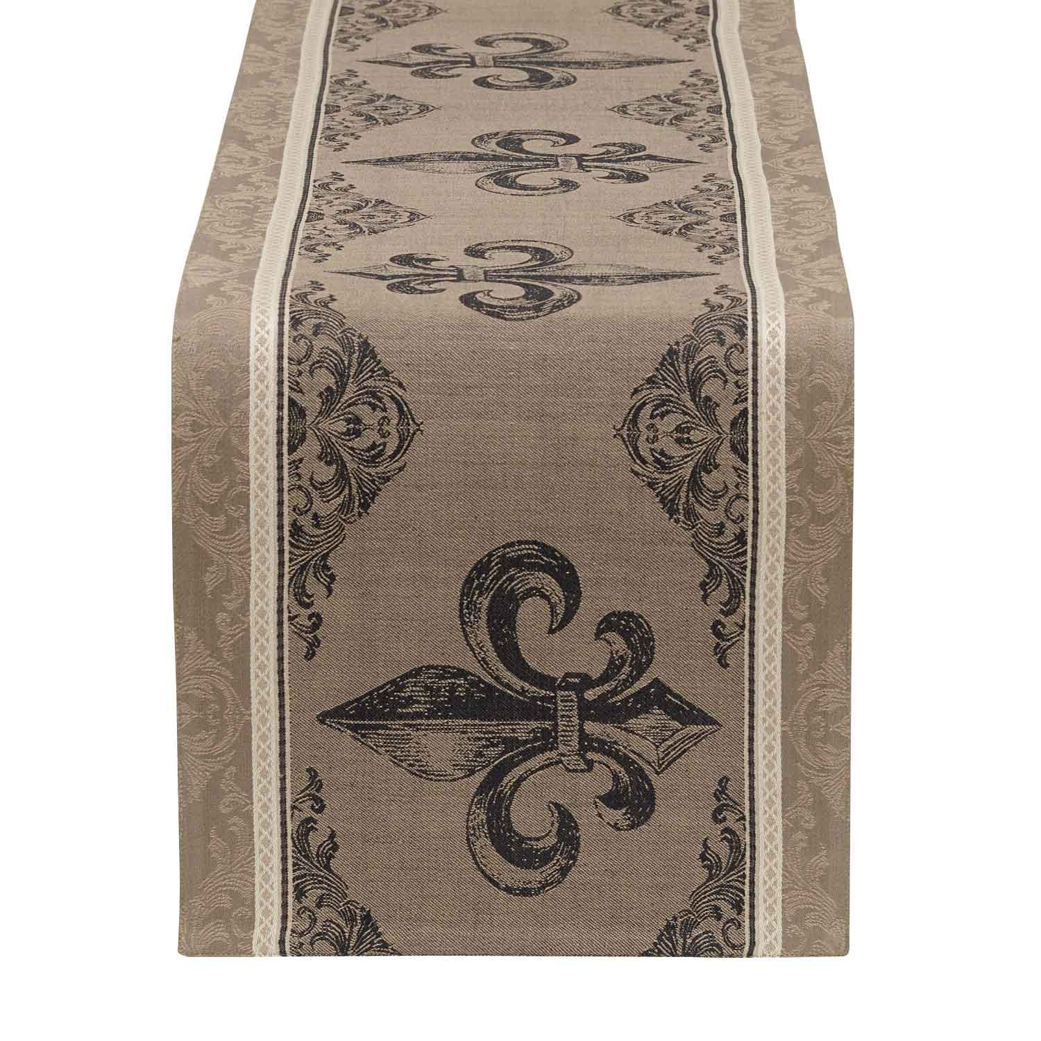 DII French Style Tabletop Collection, 14x72, Table Runner : Fleur de Lis by DII