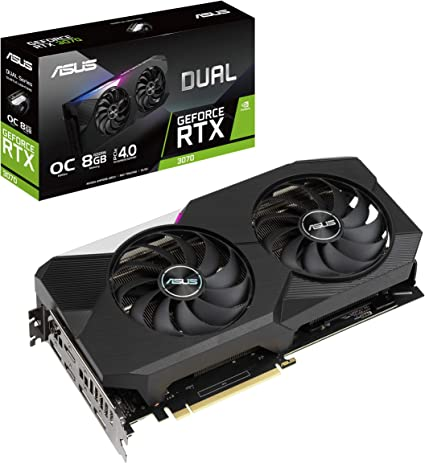 ASUS Dual GeForce RTX 3070 OC Edition Graphics Card