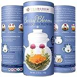 Teabloom Fiori di Tè alle Bacche - Confezione Regalo con 12 Infusori - 4 Varietà di Fiori di Tè alle Bacche - Mirtillo Rosso, Mirtillo, Bacche di Acai & Fragola + Tè Verde