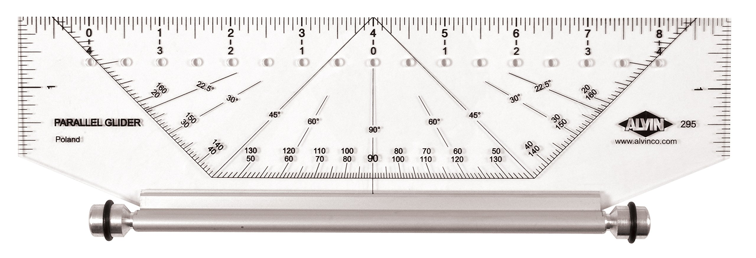 Alvin 295M Professional Parallel Glider Metric 10 inches