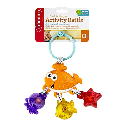 Infantino Link and Jingle Activity Rattle - Whale : Baby Rattles : Baby