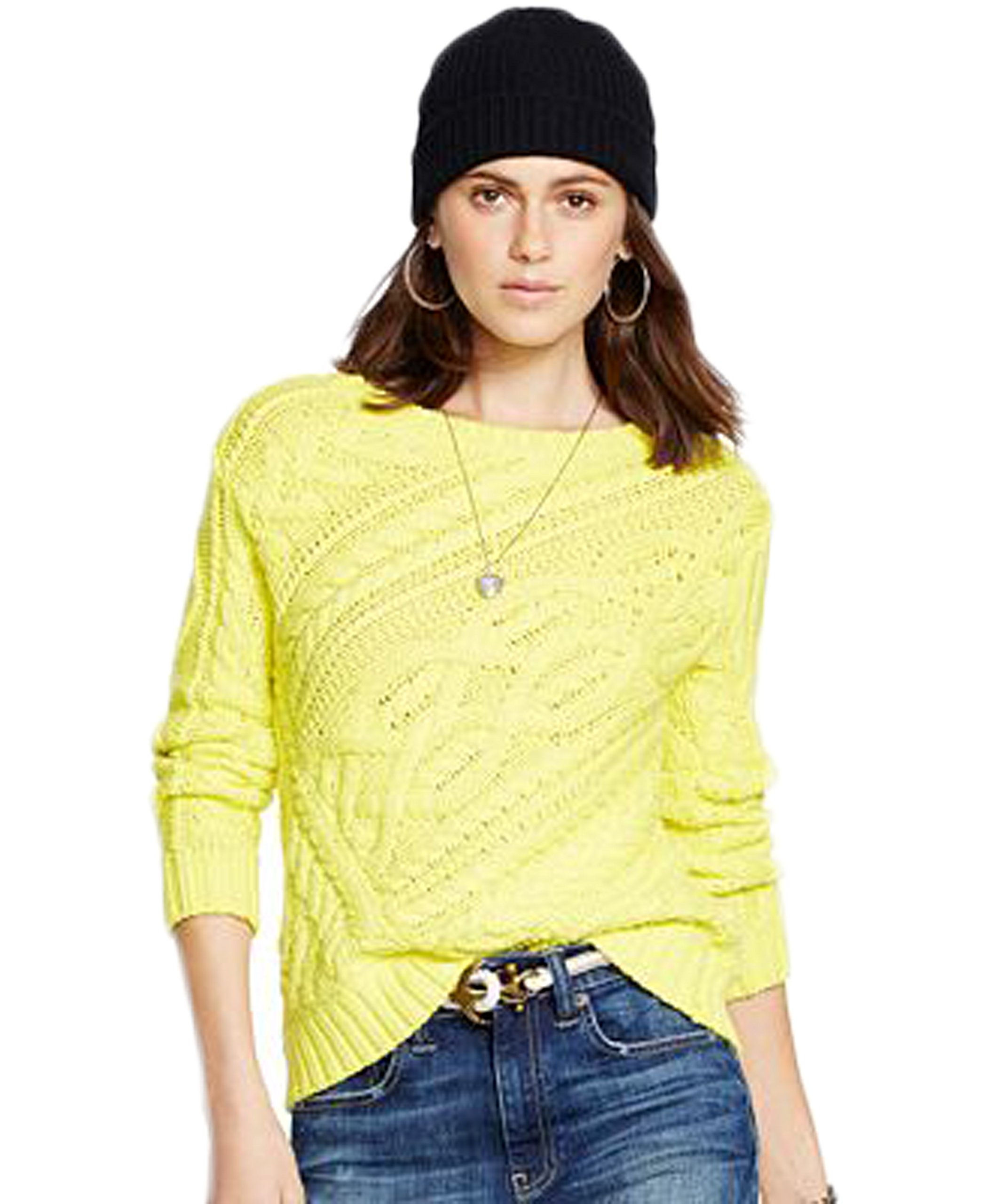 Polo Ralph Lauren Cable-Knit Cotton Sweater (Extra Large) by Brand: Polo By Ralph Lauren