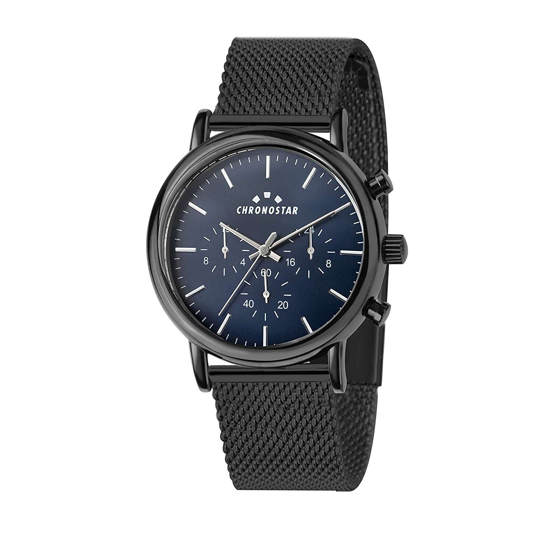 Zifferblatt Uhr Mit Herren Armband Multi Edelstahl Quarz Chronostar QxtCrdsh