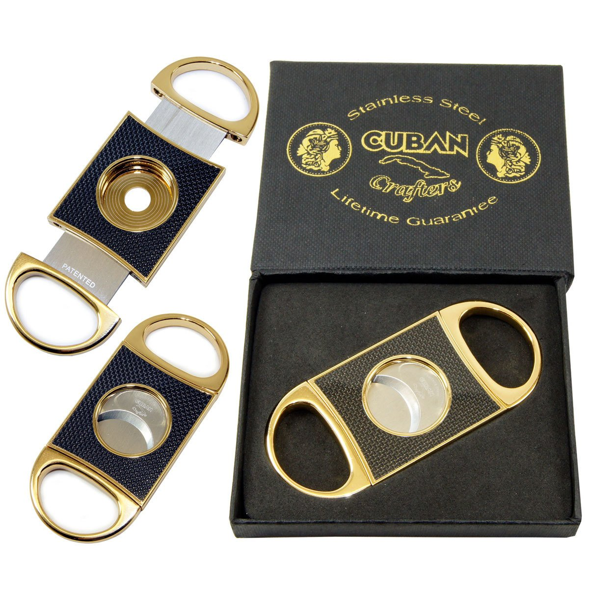 Original Cigar Cutter Gold Carbon Fiber Perfect Cutters