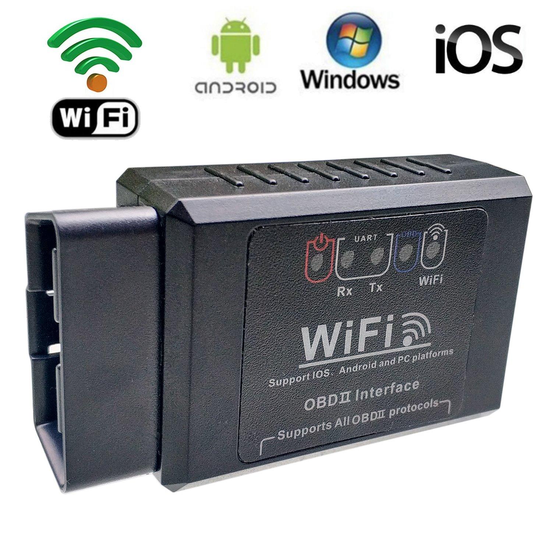 OOKOO auto OBD 2/OBD2/Scan Tool ELM327/WiFi veicolo lettore di codice di errore strumento diagnostico OBDII adattatore auto Check Engine Light Clear wireless per iPhone iOS Android Windows/ /nero
