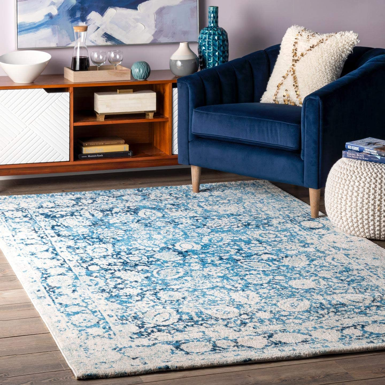 nuLOOM Boisvert Vintage Floral Area Rug, 5 x 8 , Blue