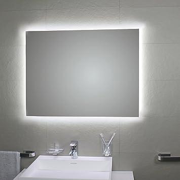 Koh – Spiegel Badezimmer – Spiegel mit Hintergrundbeleuchtung LED ...