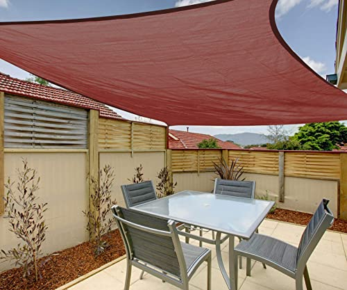 12'x16' Rectangle Sun Shade Sail Canopy