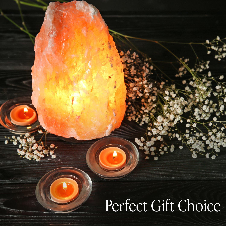 Himalayan Glow 1001 Salt Lamp, ETL Certified himalayan pink salt lamp, Home Décor Table lamps | 5-8 lbs by WBM by Himalayan Glow (Image #4)