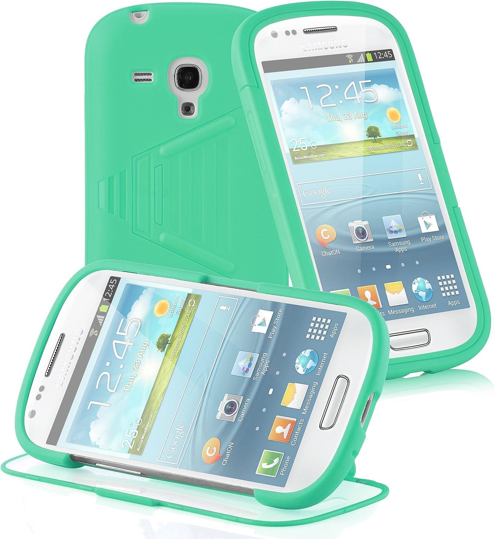 Cadorabo Funda para Samsung Galaxy S3 Mini Funda de Silicona TPU Full Body en Verde – Cubierta Protectora Completa Super Delgada e Flexible con Antichoque – Gel Ligera