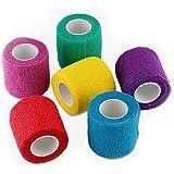 WildCow Vet Wrap Bulk, Bandage Wrap Vet Tape (2, 3 or 4 Inch), Assorted Colors (Pack of 12 or 6), Waterproof Self Adherent