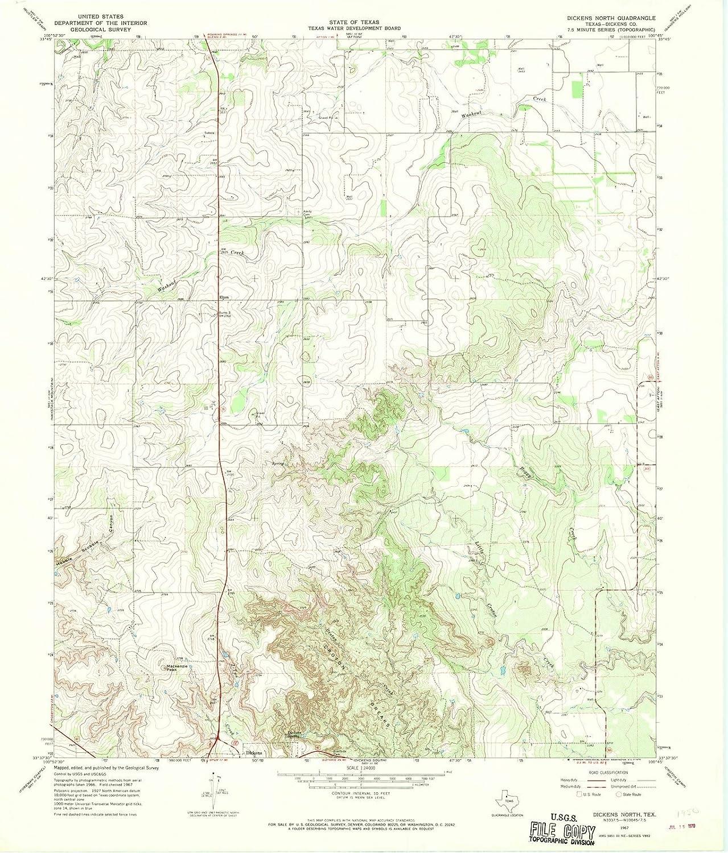 Amazon Com Historic Pictoric Texas Maps 1967 Dickens North
