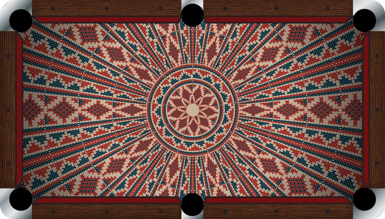プールテーブルFeltビリヤードCloth – Vivid – Ancient B01E5Z3J1M  9 foot