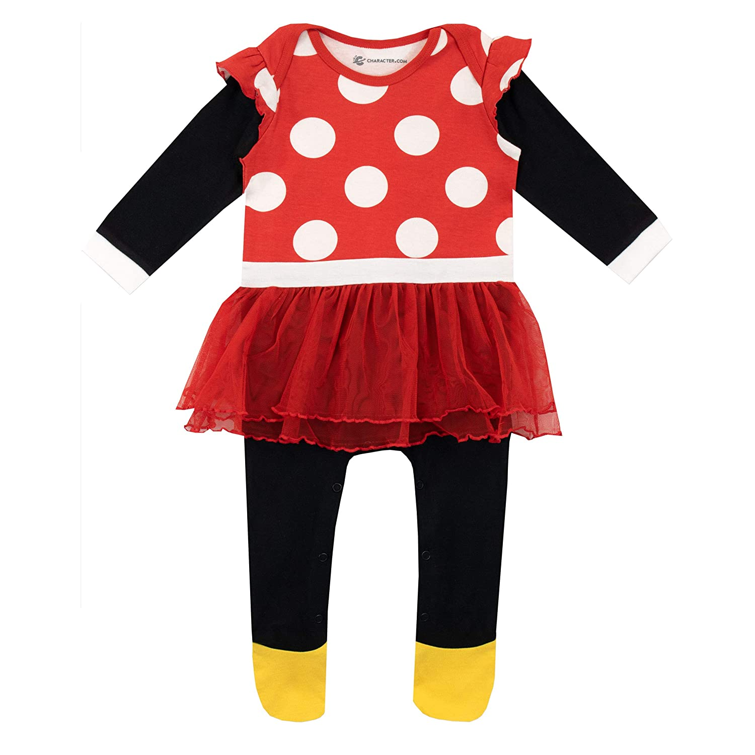 Disney Baby Girls Minnie Mouse Sleepsuit and Hat Set