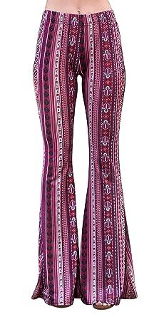 1e1d190bc6 Daisy Del Sol High Waist Gypsy Comfy Yoga Ethnic Tribal Stretch 70s Bell  Bottom Flare Pants