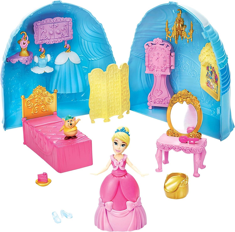 Disney Princess F1386 Prinzessin Styling /Überraschung Cinderellas Rock Spielset mit Puppe M/öbeln und Modezubeh/ör Spielzeug f/ür M/ädchen ab 4 Jahren