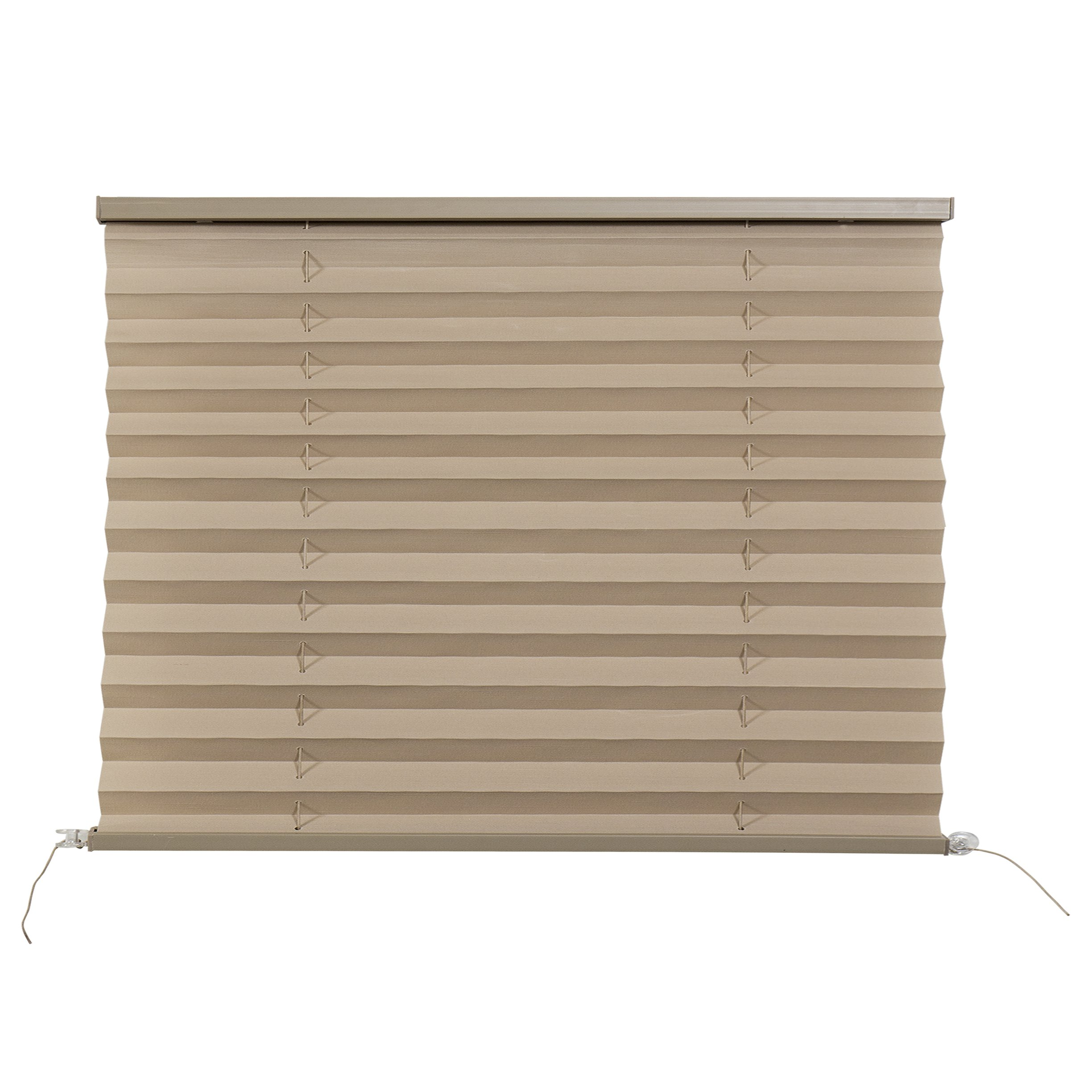 RecPro RV Pleated Blind Shades | Cappuccino | Camper | Trailer (50'' W x 32'' L)