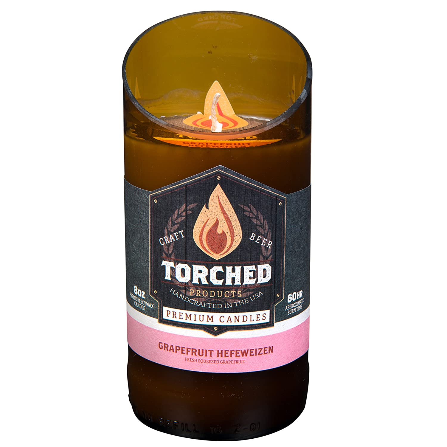 Amazon Torched Beer Bottle Candles 60 Hour Burn Time 8
