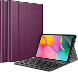 Fintie Keyboard Case for Samsung Galaxy Tab A 10.1 2019 Model SM-T510(Wi-Fi) SM-T515(LTE) SM-T517(Sprint), Slim Shell Lightweight Stand Cover with Detachable Wireless Bluetooth Keyboard, Purple