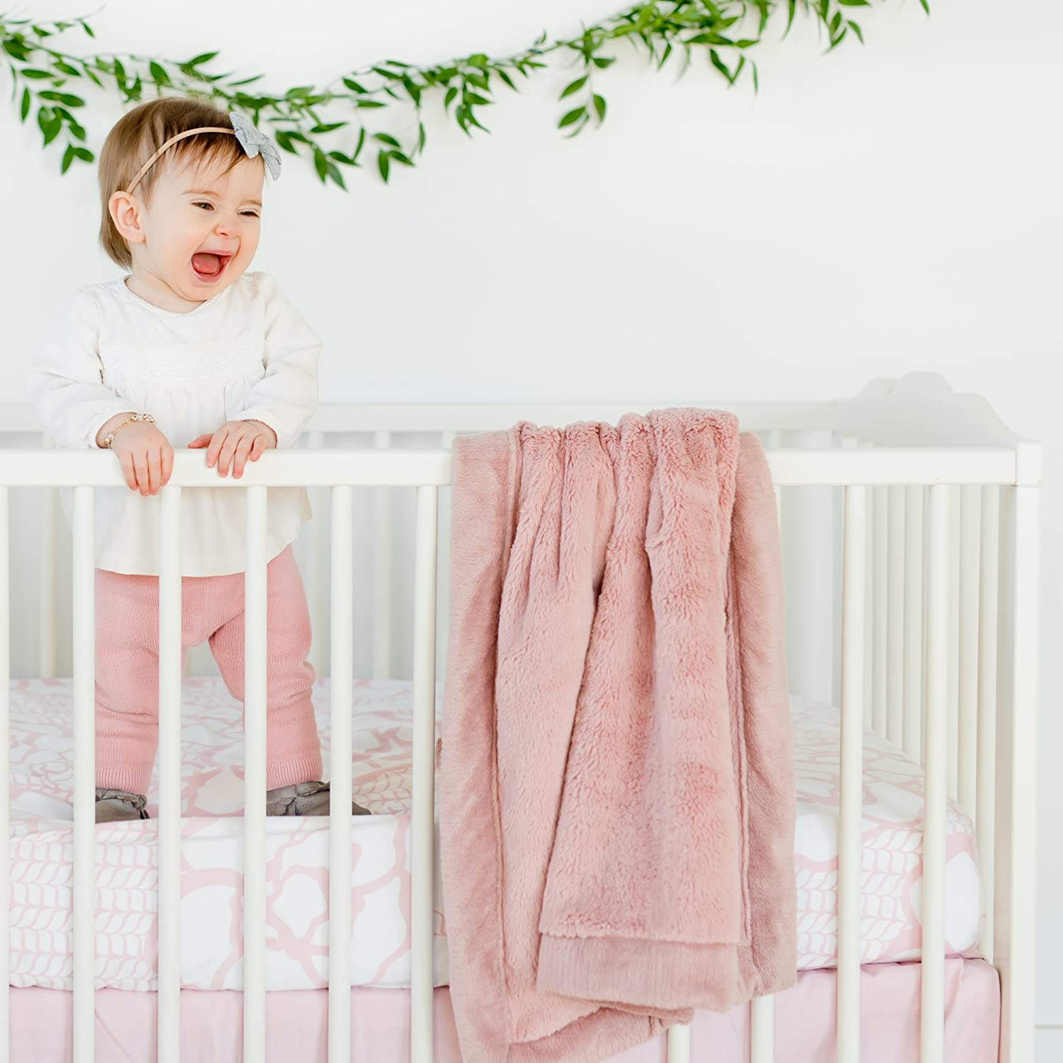 Ballet Slipper Pink, Receiving Blanket 30 x 40 Saranoni Receiving Blankets for Babies Super Soft Boutique Quality Lush Luxury Baby Blanket
