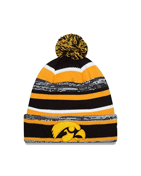 68fb7800abf ... official store new era ncaa iowa hawkeyes college ne14 sport knit  beanie one size black 715c0