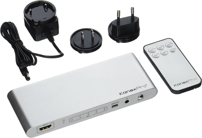 KanexPro 4K HDMI 5 x 1 Switcher, Silver (SW-HD20-5X14K)