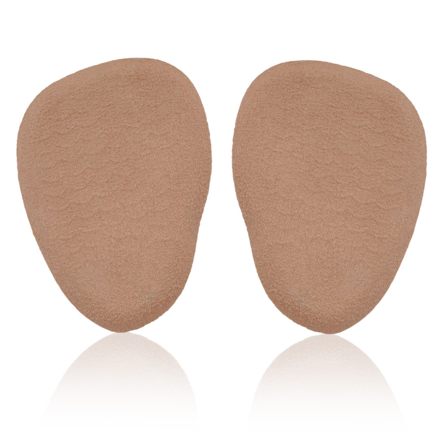 Mintfoot Felt Metatarsal Pads - 2 Pieces - Fabric Covered Foot Cushions - One Size - Rapid Pain Relief