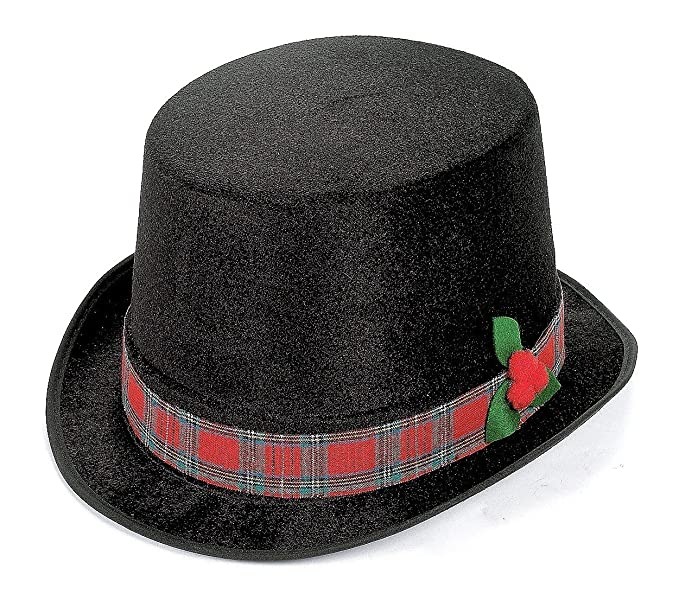 Victorian Men's Costumes  Christmas Caroler Top Hat $6.99 AT vintagedancer.com