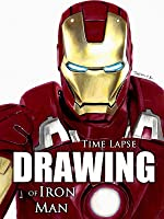 Time Lapse Drawing of Iron Man